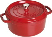Staub Ronde Cocotte 24 cm - kersenrood