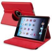 Apple iPad Mini / Mini 2 Case, 360 graden draaibare Hoes, Cover met Multi-stand Rood