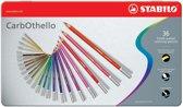STABILO CarbOthello Kalk-Pastel Kleurpotloden - Metalen Etui 36 stuks