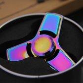 Fidget Spinner RVS PRO – Fidget Spinner Tri poot - Hand Spinner Draaier - Stress verminderende Speel Spinner - Stress Spinner – Kleur Multi