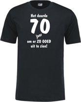 Mijncadeautje - Leeftijd T-shirt - Het duurde 70 jaar - Unisex - Zwart (maat XXL)