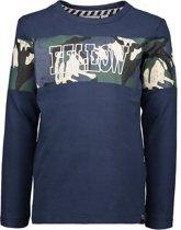 Moodstreet Jongens T-shirt lange mouw - Donker blauw - Maat 134/140