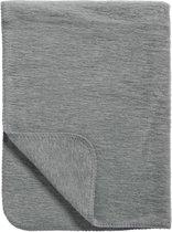 Meyco Uni - Wiegdekentje 75x100 cm - Antraciet/Grijs