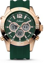 Colori Urban 5-CLD077 - Horloge -groen - siliconen band - 47 mm