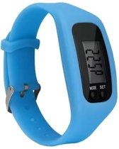 Fako Bijoux® - Horloge - Fitband Gesp - LCD - Lichtblauw