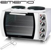 Mini Oven 2930W + kookplaat - wit MO-114979,1 Emerio