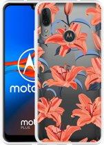 Motorola Moto E6 Plus Hoesje Flowers