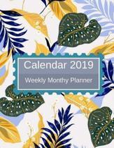 Calendar 2019 Weekly Monthly Planner