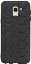 Wicked Narwal | Hexagon Hard Case voor Samsung Samsung Galaxy J6 Zwart
