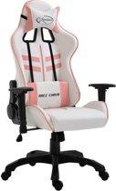 vidaXL Gamingstoel PU roze