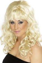 Blonde gegolfde pruik voor dames - Verkleedpruik - One size