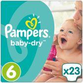 Pampers Baby-Dry Maat 6 (Extra Large) 15+ kg - 23 Stuks - Luiers