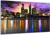 Canvas schilderij Uitzicht | Paars, Geel, Oranje | 120x70cm 1Luik