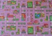 Speelmat verkeer roze groot - 140 x 200 cm