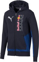 PUMA Red Bull Racing Logo Hooded Sweat Jacket Trui Heren - NIGHT SKY - Maat XL
