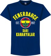 Fenerbahce Established T-Shirt - Navy Blauw - S