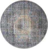 Vloerkleed madel 120 rond groen/blauw