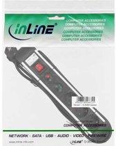 InLine 16431A power uitbreiding 1,5 m 3 AC-uitgang(en) Zwart, Zilver