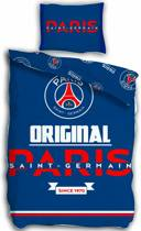 Paris Saint Germain Original - Dekbedovertrek - Eenpersoons - 140 x 200 cm - Blauw