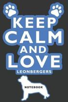 Keep Calm and Love Leonbergers Notebook