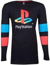 Playstation - Logo & Arms Striped Longsleeve T-shirt - XL
