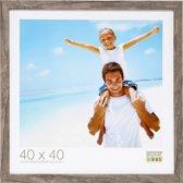Deknudt Frames Blokprofiel in grijsbeige houtkleur fotomaat 13x13 cm