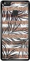 Huawei P9 Lite hoesje - Rose gold leaves