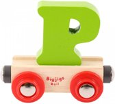 Bigjigs - Rails - Naamtrein - Letter P - Oranje
