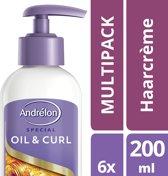 Andrelon Oil & Curl- 6 stuks- Haarcreme - voordeelverpakking