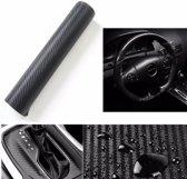 Auto/Car Wrap Folie 3D Carbon - Vinyl Auto / Car Wrapping Carbon folie- 50 x 50 cm - Zwart