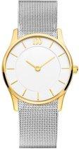 Danish Design IV65Q1063 horloge dames - zilver en goud - edelstaal doubl�
