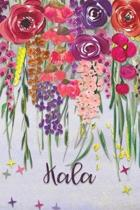 Kala: Personalized Lined Journal - Colorful Floral Waterfall (Customized Name Gifts)