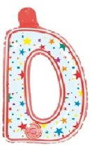 Opblaasbare letter D multi color