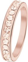 Lucardi - Little Miss Fabulous - Stalen kinderring roseplated light peach kristal