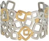 My Bendel chique brede bangle - HO1001 - Bicolor - 40 mm