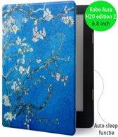 Lunso - Sleepcover voor Kobo Aura H20 edition 2 - Van Gogh amandelboom
