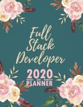 Full Stack Developer 2020 Weekly and Monthly Planner: 2020 Planner Monthly Weekly inspirational quotes To do list to Jot Down Work Personal Office Stu