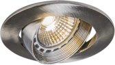 QAZQA Easy - Inbouwspot - 1 lichts - 85 mm - staal