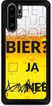 Huawei P30 Pro Hardcase hoesje Is het al tijd voor bier?