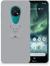 Nokia 7.2 | 6.2 Telefoonhoesje met Naam Grijs Baby Olifant