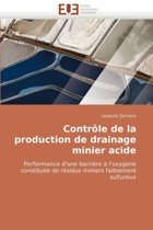 Contr�le de la Production de Drainage Minier Acide