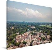 Uitzicht over de stad Lahore Canvas 160x120 cm - Foto print op Canvas schilderij (Wanddecoratie woonkamer / slaapkamer) XXL / Groot formaat!