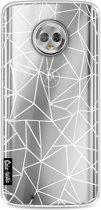 Casetastic Softcover Motorola Moto G6 - Abstraction Outline White Transparent