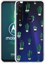 Motorola Moto G8 Plus Hoesje Cactus