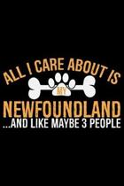 All I Care About Is My Newfoundland and Like Maybe 3 people: Cool Newfoundland Dog Journal Notebook - Newfoundland Puppy Lover Gifts - Funny Newfoundl