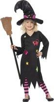 Verkleedkostuum voor meisjes heks kat Halloween artikel - Verkleedkleding - 116/122