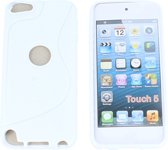 Apple iPod Touch 5 S Line Gel Silicone Case Hoesje Wit White