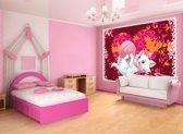 Fotobehang Papier Disney, Marie Poes   Roze   368x254cm