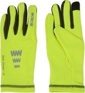 Wowow Dark Gloves 1.0 - Hardloophandschoenen - Unisex - Maat S - FluorGeel