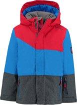 jongens Jas Ziener blauw met rode jongens ski jas Agnolo met 10.000mm waterkolom 4052928650535